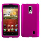 LG Spectrum Titanium Solid Hot Pink Phone Protector Cover