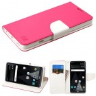 LG V20 Hot Pink Pattern/White Liner wallet with Card Slot