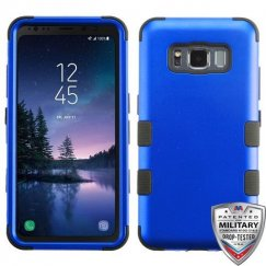 Samsung Galaxy S8 Active Titanium Dark Blue/Black Hybrid Case Military Grade