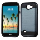 LG K3 Ink Blue/Black Brushed Hybrid Protector Cover
