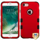 Apple iPhone 7 Titanium Red/Black Hybrid Case
