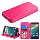 LG Nexus 5X Hot Pink Wallet(with Tray)