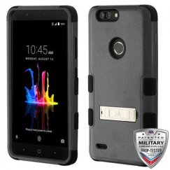 ZTE Blade Z Max / Sequoia Z982 Natural Black/Black Hybrid Case with Stand