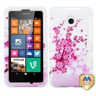 Nokia Lumia 635 Spring Flowers/Solid White Hybrid Phone Protector Cover