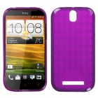 HTC One SV Hot Pink Argyle Pane Candy Skin Cover