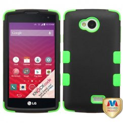LG Tribute Rubberized Black/Electric Green Hybrid Case
