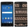 ZTE ZMAX 2 Zebra Skin-Leopard Skin/Black Advanced Armor Case