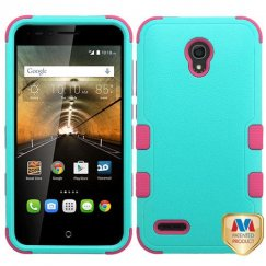 Alcatel One Touch Conquest Natural Teal Green/Electric Pink Hybrid Case