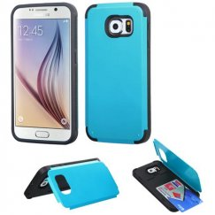 Samsung Galaxy S6 Tropical Teal Inverse Advanced Armor Stand Case with Card Wallet