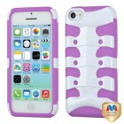 Apple iPhone 5c Solid Ivory White/Electric Purple Ribcage Hybrid Case
