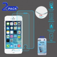 Apple iPhone 5/5s Tempered Glass Screen Protector - 2-pack