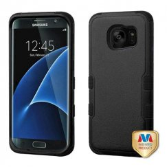 Samsung Galaxy S7 Edge Natural Black/Black Hybrid Case