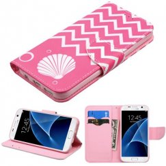 Samsung Galaxy S7 Shell/Pink Wallet