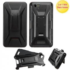 Blu Studio Energy D810 Black/Black Advanced Armor Stand Case with Black Holster