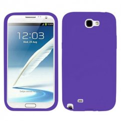 Samsung Galaxy Note 2 Solid Skin Cover - Electric Purple