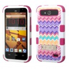 ZTE Speed Camo Wave/Hot Pink Hybrid Case with Stand
