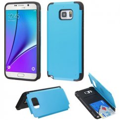 Samsung Galaxy Note 5 Tropical Teal Inverse Advanced Armor Stand Case with Card Wallet