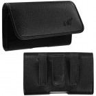 Black/Gray Textured Horizontal Pouch Large