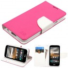 LG K3 Hot Pink Pattern/White Liner wallet (with card slot)