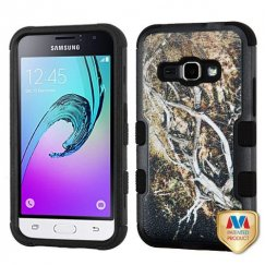 Samsung Galaxy J1 Yellow/Black Vine/Black Hybrid Case