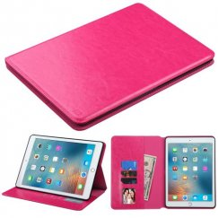 AppleiPad iPad Pro 9.7 2016 Hot Pink Wallet with Tray