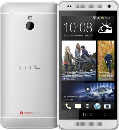 HTC One mini 16GB Android Smartphone - Unlocked GSM - Silver
