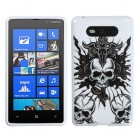 Nokia Lumia 820 Skull Fury/White Candy Skin Cover