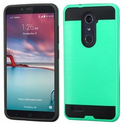 ZTE Grand X Max 2 Green/Black Brushed Hybrid Case