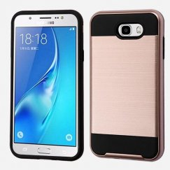 Samsung Galaxy J7 Rose Gold/Black Brushed Hybrid Case