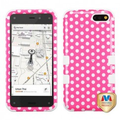 Amazon Amazon Fire Phone Dots(Pink/white)/White Hybrid Case
