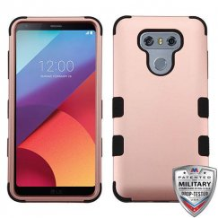 LG G6 Rose Gold/Black Hybrid Case Military Grade