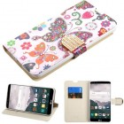 LG LG G Stylo 2 Plus Butterfly Wonderland Diamante Wallet with Diamante Belt