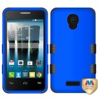 Alcatel Fierce 4 / Pop 4 Plus / Allura Titanium Dark Blue/Black Hybrid Case