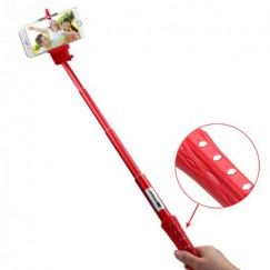 Red Wireless Selfie Stick(with Shutter Control)
