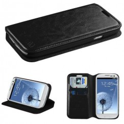 Samsung Galaxy S3 Black Wallet with Tray