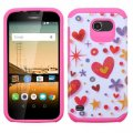 Huawei Union Y538 Heart Graffiti(White)/Hot Pink Advanced Armor Case