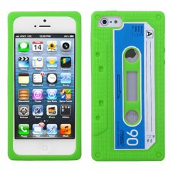 Apple iPhone 5c Apple Green Retro Cassette Skin Cover