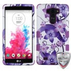 LG G Vista Purple Hibiscus Flower Romance/Electric Purple Hybrid Phone Case - Military Grade