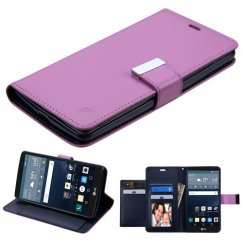 LG G Stylo Purple/Dark Blue PU Leather Wallet with extra card slots