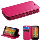 Motorola Moto G Hot Pink Wallet(with Tray)