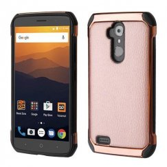 ZTE Blade Max 3 / Max XL Rose Gold Lychee Grain Rose Gold Plating/Black Astronoot Case