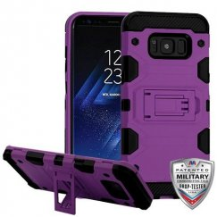 Samsung Galaxy S8 Purple/Black Storm Tank Hybrid Case Military Grade