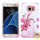 Samsung Galaxy S7 Edge Spring Flowers/Electric Pink Hybrid Case