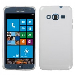 Samsung Ativ S Neo SGH-I187 Semi Transparent White Candy Skin Cover - Rubberized