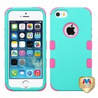 Apple iPhone 5/5s Rubberized Teal Green/Electric Pink Hybrid Case
