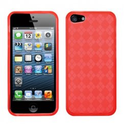 Apple iPhone 5c T-Red Argyle Candy Skin Cover