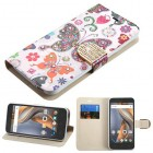 Coolpad Catalyst Butterfly Wonderland Diamante Wallet(with Diamante Belt)