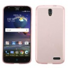 ZTE Grand X 3 / Warp 7 Glossy Transparent Rose Gold Candy Skin Cover