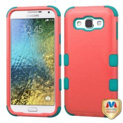Samsung Galaxy E5 Natural Baby Red/Tropical Teal Hybrid Case