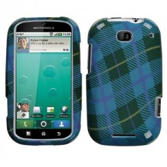 Motorola Bravo Blue Plaid Weave Case